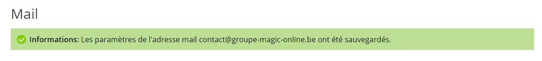 confirmation de la réponse automatique