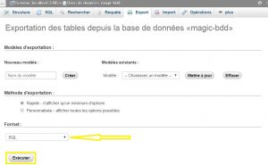 Exporter ma base de données MySQL