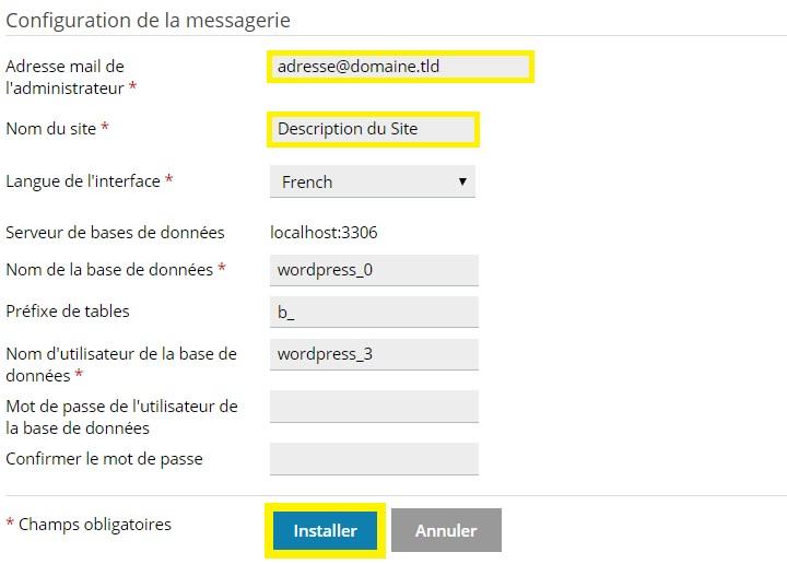 installer WordPress automatiquement depuis le menu Applications sur Plesk.