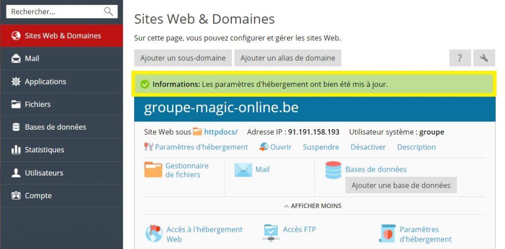 sites web & domaines