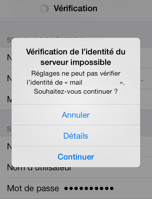 Email-Pro-Iphone-vérification-du-seveur