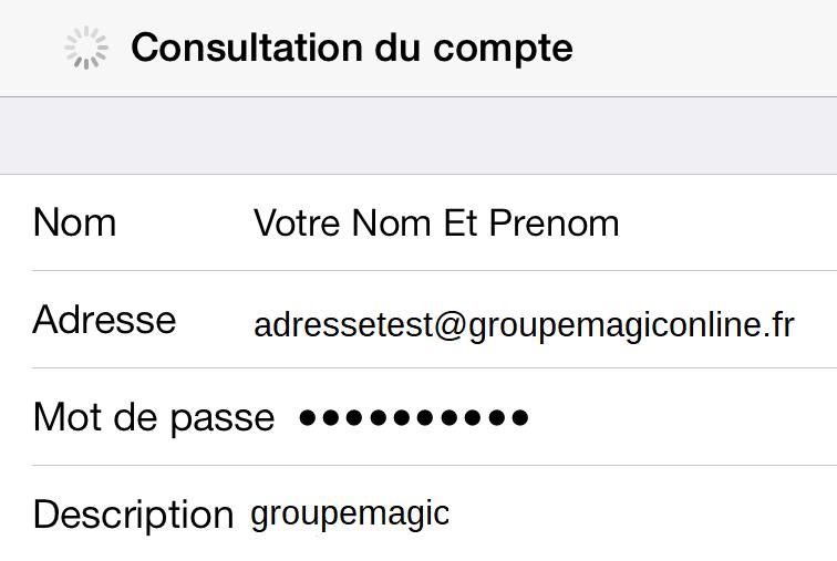 Consultation du compte