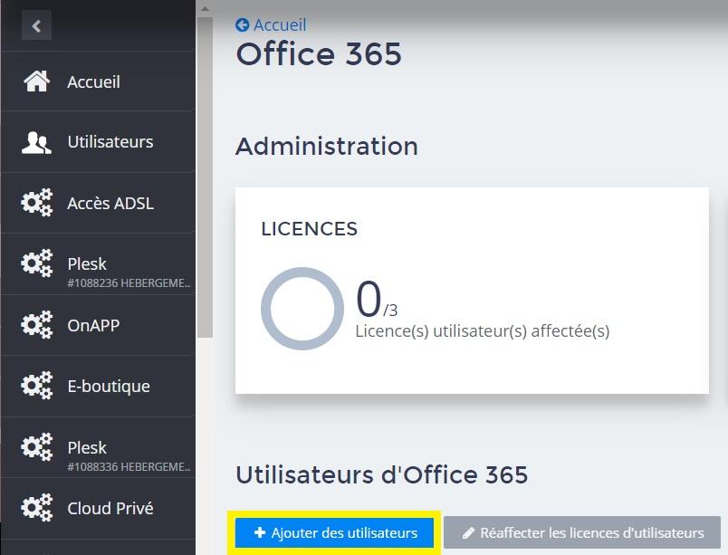 Ajouter des utilisateurs Office 365 - 1