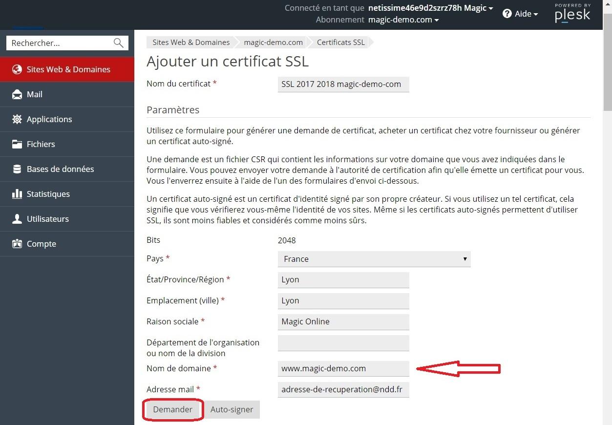 interface site web et domaines - 1