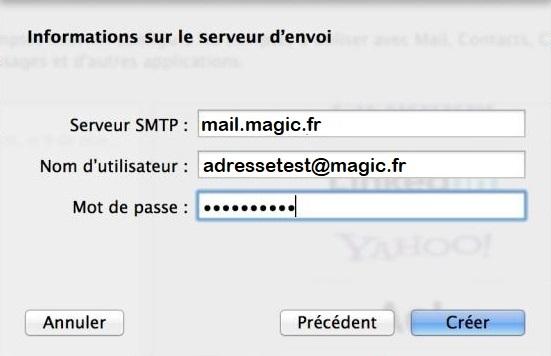 Mac OS - Informations serveur