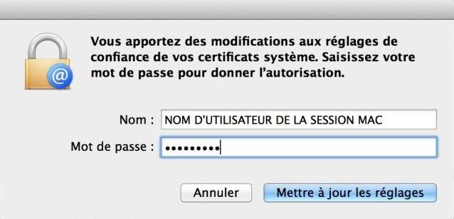 Mac OS - utilisateur