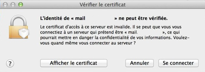 Certificat vérification