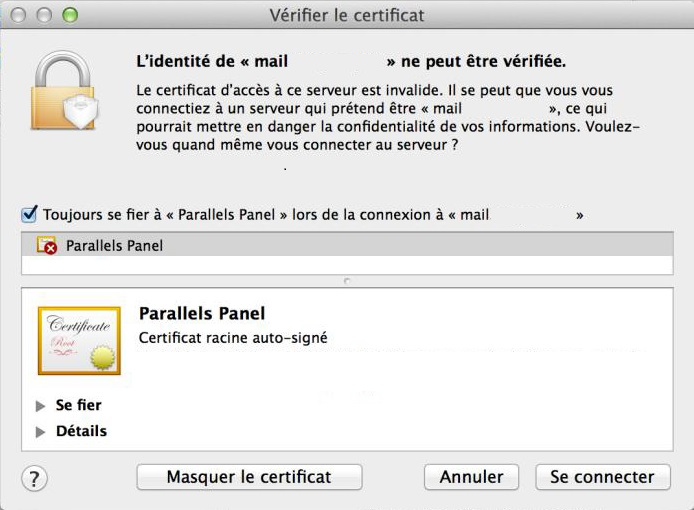 Vérification Certificat