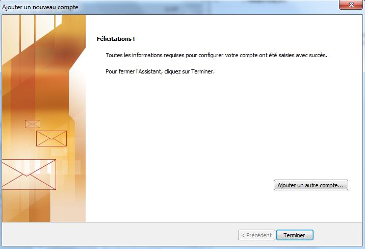 Configuration Adresse Email Pro sur Outlook 2010 – 1