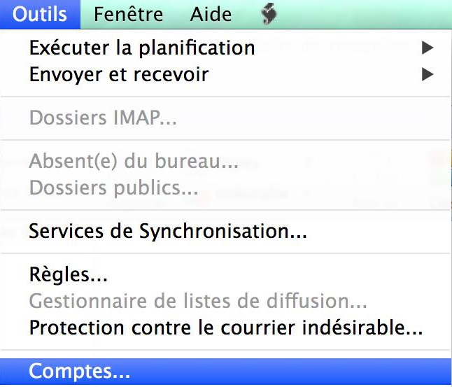 Configuration Adresse Email Pro sur Outlook – Mac OS