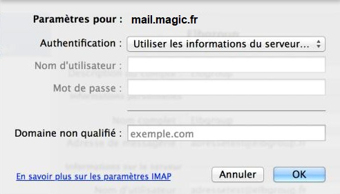 Configuration Adresse Email Pro sur Outlook – Mac OS - 11