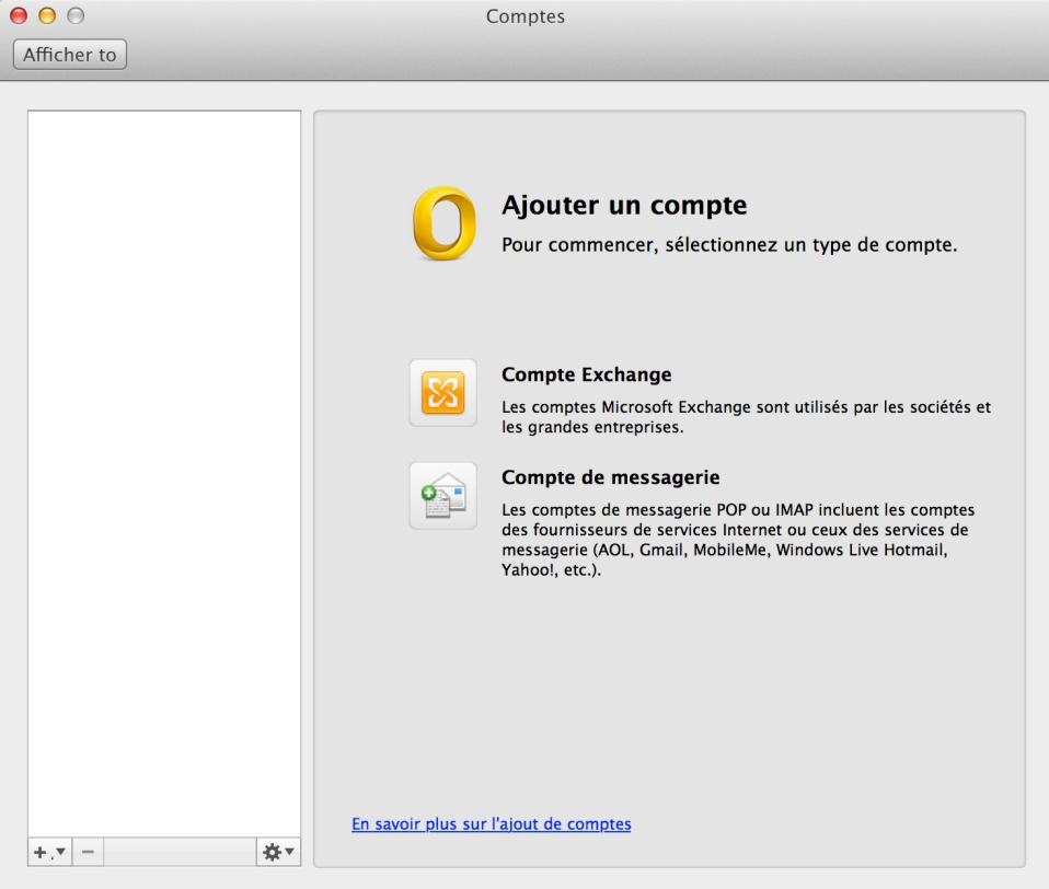Configuration Adresse Email Pro sur Outlook – Mac OS - 1