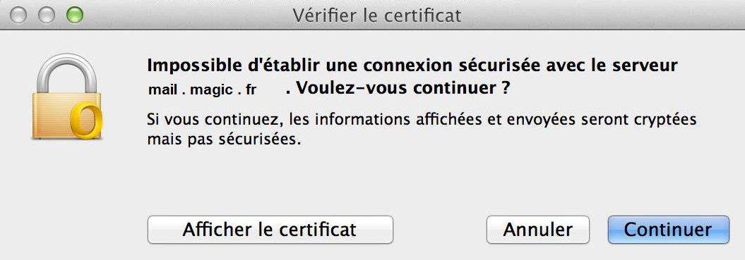 Configuration Adresse Email Pro sur Outlook – Mac OS - 7