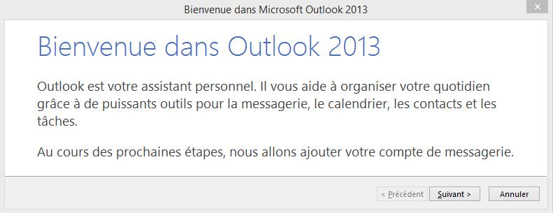Configuration Adresse Email Pro sur Outlook 2013