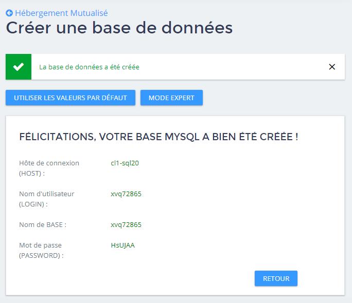 Créer une base de données MySQL -9