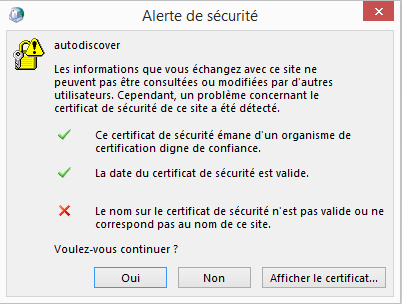 Configuration Email Exchange 2013 sur Outlook 2013 - 3