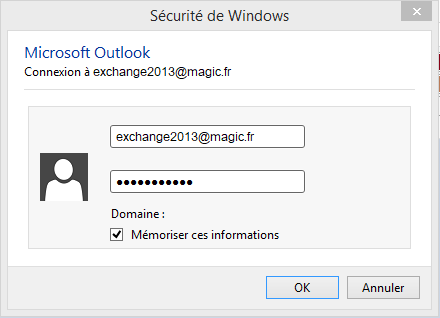 Configuration Email Exchange 2013 sur Outlook