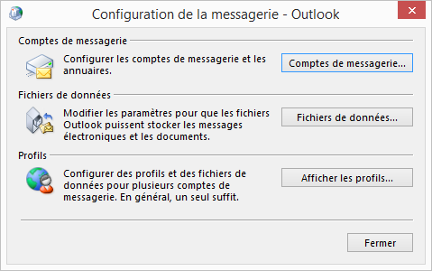 Configuration Email Exchange 2013 sur Outlook 2013- messagerie