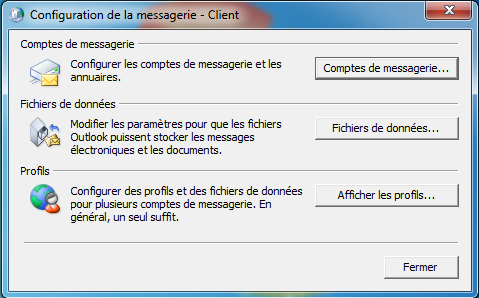 Configuration Email Exchange 2013 sur Outlook 2010 - Client