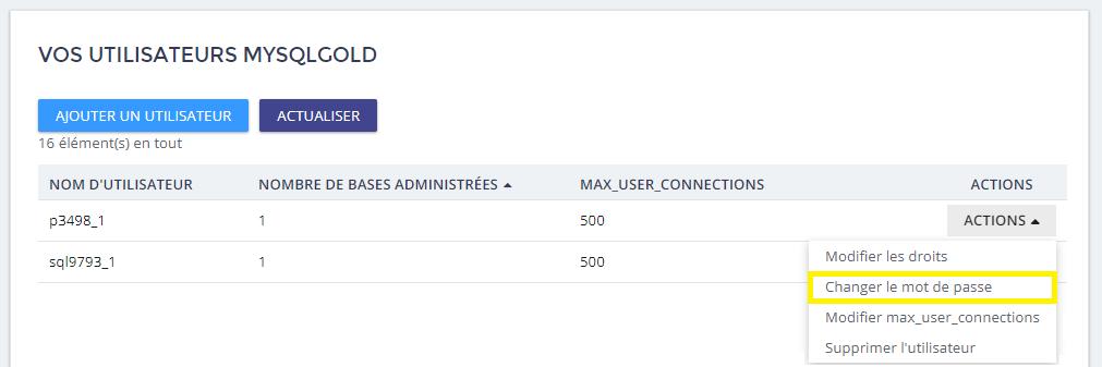 données MySQL