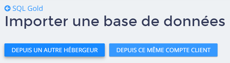base de données - MySQL